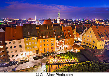 Nuremberg, Germany Skyline - Nuremberg, Germany old town...