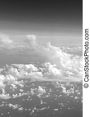 Clouds and sky - Meteorology, Weather pattern with cumulus...