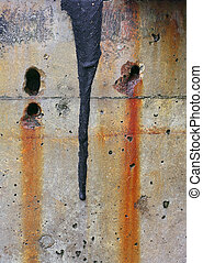 Close Up of a Colorful, Weathered Concrete Wall - Close up...