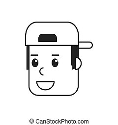 face of man with hat icon