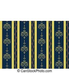 wallpaper Pattern - Vector illustration of elegant Victorian...