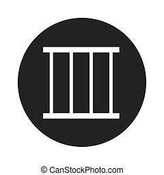 jail gate isolated icon vector illustration design