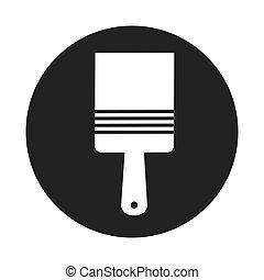 brush paint supply icon vector illustration design