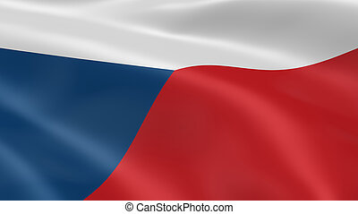 Czech flag in the wind Part of a series