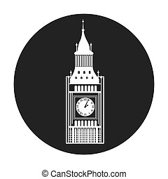 big ben london isolated vector illustration design