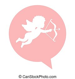 angel cupid isolated icon