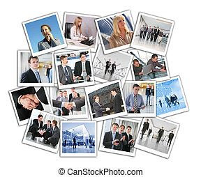 collage, Muchos, empresa / negocio, fotos