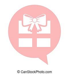 doosje, Vrijstaand, cadeau, pictogram