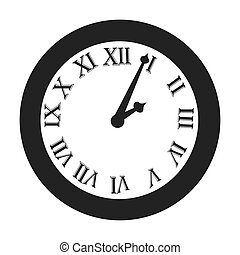 time clock roman numbers