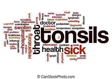 Tonsils word cloud concept
