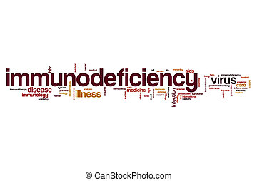 Immunodeficiency word cloud concept