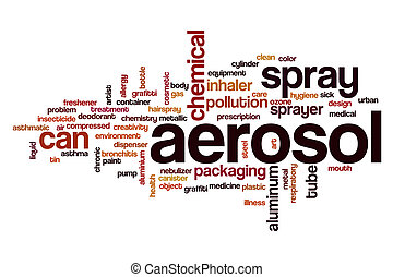 Aerosol word cloud concept