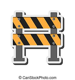 under construction road sign icon