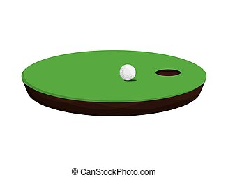 golf hole icon - flat design golf hole icon vector...