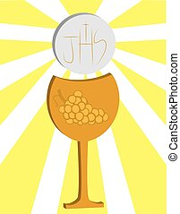 first Communion, Eucharist 3 - It is a vector illustration...