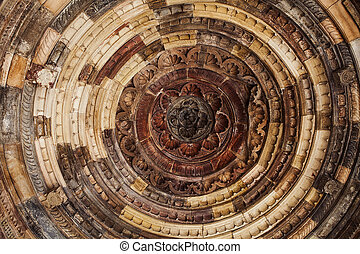 Beautiful ceiling of the Portal, in India