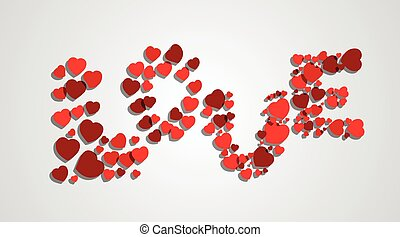 word love from hearts