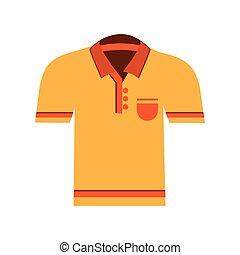 polo shirt icon - flat design polo shirt icon vector...
