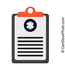 medical clipboard icon - flat design medical clipboard icon...