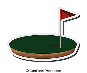 golf hole icon - flat design golf hole icon vector...