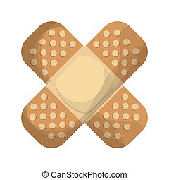adhesive bandage icon - flat design adhesive bandage icon...