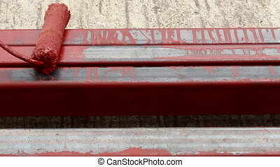 Rustproof paint steel