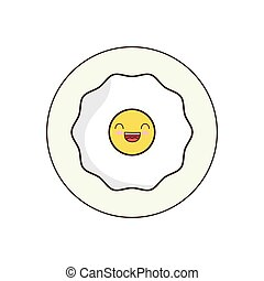 Egg breakfast food menu icon. Isolated and flat vecctor...
