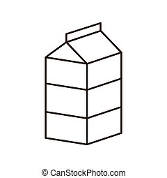 milk breakfast food menu icon. Isolated and flat vecctor...