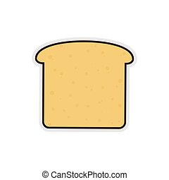 bread breakfast food menu icon. Isolated and flat vecctor...