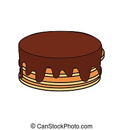 pancakes breakfast food menu icon Isolated and flat vecctor...