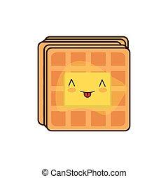 Waffle breakfast food menu icon - waffle breakfast food menu...