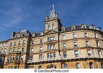 Città, salone, albergo, costruito, Neoclassico, bournemouth,...