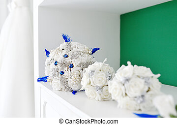 Artificial flower wedding bouquet for bride and bridesmaid