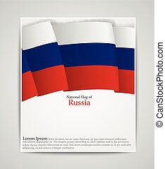 National flag brochure of Russia - Vector illustration of...
