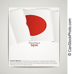National flag brochure of Japan