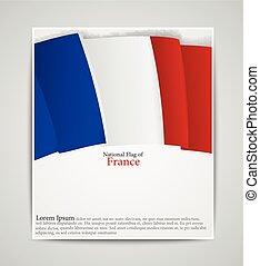 national Flag  brochure of France