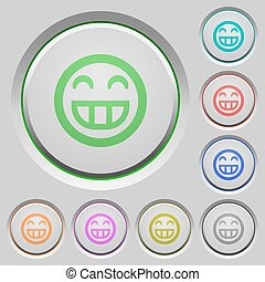 Laughing emoticon push buttons