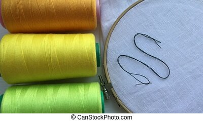 Green thread for sewing