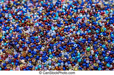 Glass Seed Bead Background