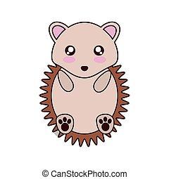 porcupine kawaii cute animal icon - porcupine kawaii cute...
