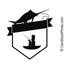 fishing emblem icon