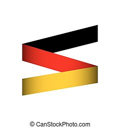 flag colors germany europe icon Isolated and flat...