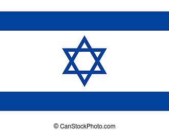 Flag of Israel in correct proportions and colors - Flag of...