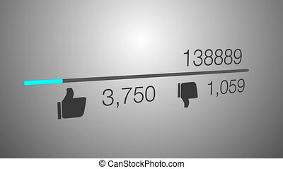 Video counter quickly increasing views - A close up of a...