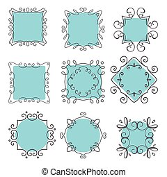 cute hand drawn frames