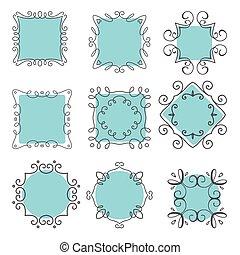cute hand drawn frames