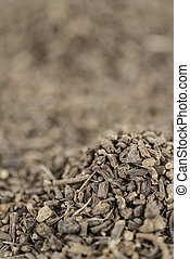 Dried Valerian roots as background image or as texture...