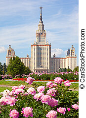 The Moscow State University of a name of Lomonosov. Vertical...