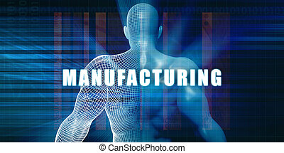 Manufacturing as a Futuristic Concept Abstract Background