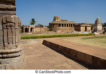 Durga Temple, Aihole - View of Durga Temple Middle one with...
